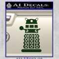 Doctor Who Dalek Decal Sticker D2 Dark Green Vinyl 120x120