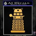 Doctor Who Dalek Decal Sticker D2 Gold Vinyl 120x120