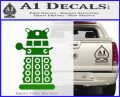 Doctor Who Dalek Decal Sticker D2 Green Vinyl Logo 120x97