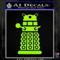 Doctor Who Dalek Decal Sticker D2 Lime Green Vinyl 120x120