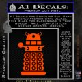 Doctor Who Dalek Decal Sticker D2 Orange Emblem 120x120