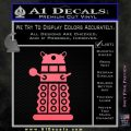 Doctor Who Dalek Decal Sticker D2 Pink Emblem 120x120
