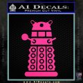 Doctor Who Dalek Decal Sticker D2 Pink Hot Vinyl 120x120