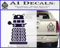 Doctor Who Dalek Decal Sticker D2 PurpleEmblem Logo 120x97