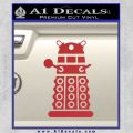 Doctor Who Dalek Decal Sticker D2 Red 120x120