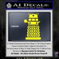 Doctor Who Dalek Decal Sticker D2 Yellow Laptop 120x120
