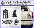 Doctor Who Decal Sticker 4pk Carbon FIber Black Vinyl 120x97