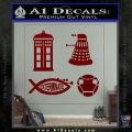 Doctor Who Decal Sticker 4pk DRD Vinyl 120x120