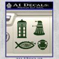 Doctor Who Decal Sticker 4pk Dark Green Vinyl 120x120