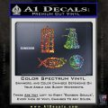 Doctor Who Decal Sticker 4pk Glitter Sparkle 120x120