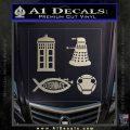 Doctor Who Decal Sticker 4pk Metallic Silver Emblem 120x120
