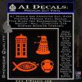 Doctor Who Decal Sticker 4pk Orange Emblem 120x120
