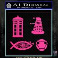 Doctor Who Decal Sticker 4pk Pink Hot Vinyl 120x120