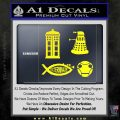 Doctor Who Decal Sticker 4pk Yellow Laptop 120x120