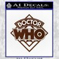 Doctor Who Decal Sticker Diamond BROWN Vinyl 120x120