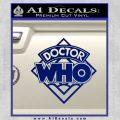Doctor Who Decal Sticker Diamond Blue Vinyl 120x120
