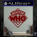 Doctor Who Decal Sticker Diamond DRD Vinyl 120x120