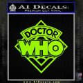 Doctor Who Decal Sticker Diamond Lime Green Vinyl 120x120