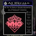 Doctor Who Decal Sticker Diamond Pink Emblem 120x120