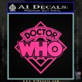 Doctor Who Decal Sticker Diamond Pink Hot Vinyl 120x120