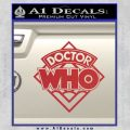 Doctor Who Decal Sticker Diamond Red 120x120