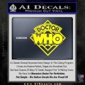 Doctor Who Decal Sticker Diamond Yellow Laptop 120x120