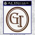 Doctor Who Great Intelligence Institute Logo Decal Sticker BROWN Vinyl 120x120