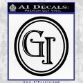 Doctor Who Great Intelligence Institute Logo Decal Sticker Black Vinyl 120x120