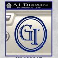 Doctor Who Great Intelligence Institute Logo Decal Sticker Blue Vinyl 120x120