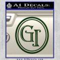 Doctor Who Great Intelligence Institute Logo Decal Sticker Dark Green Vinyl 120x120