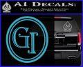 Doctor Who Great Intelligence Institute Logo Decal Sticker Light Blue Vinyl 120x97