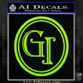 Doctor Who Great Intelligence Institute Logo Decal Sticker Lime Green Vinyl 120x120
