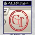Doctor Who Great Intelligence Institute Logo Decal Sticker Red 120x120