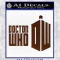 Doctor Who Logo 2010A Decal Sticker BROWN Vinyl 120x120
