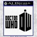 Doctor Who Logo 2010A Decal Sticker Black Vinyl 120x120