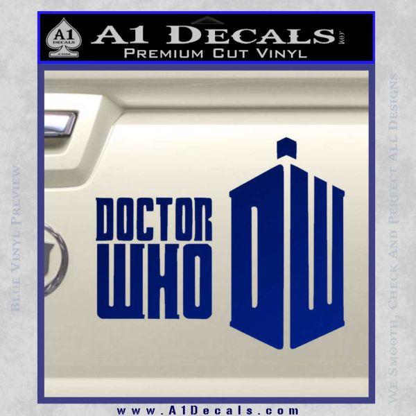Doctor Who Logo 2010A Decal Sticker Blue Vinyl