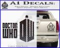 Doctor Who Logo 2010A Decal Sticker Carbon FIber Black Vinyl 120x97