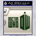 Doctor Who Logo 2010A Decal Sticker Dark Green Vinyl 120x120