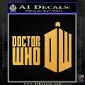 Doctor Who Logo 2010A Decal Sticker Gold Vinyl 120x120
