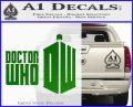 Doctor Who Logo 2010A Decal Sticker Green Vinyl Logo 120x97