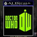 Doctor Who Logo 2010A Decal Sticker Lime Green Vinyl 120x120