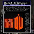 Doctor Who Logo 2010A Decal Sticker Orange Emblem 120x120