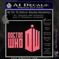 Doctor Who Logo 2010A Decal Sticker Pink Emblem 120x120