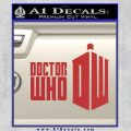 Doctor Who Logo 2010A Decal Sticker Red 120x120