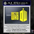 Doctor Who Logo 2010A Decal Sticker Yellow Laptop 120x120