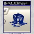 Doctor Who Melted Tardis Decal Sticker Blue Vinyl 120x120