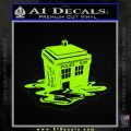 Doctor Who Melted Tardis Decal Sticker Lime Green Vinyl 120x120