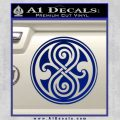 Doctor Who Rassilon Decal Sticker Blue Vinyl 120x120