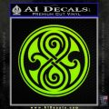 Doctor Who Rassilon Decal Sticker Lime Green Vinyl 120x120