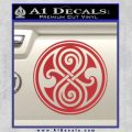 Doctor Who Rassilon Decal Sticker Red 120x120